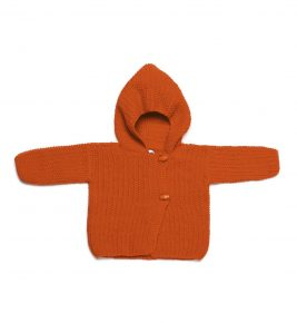 Merino Wool Cardigan 1010-orange