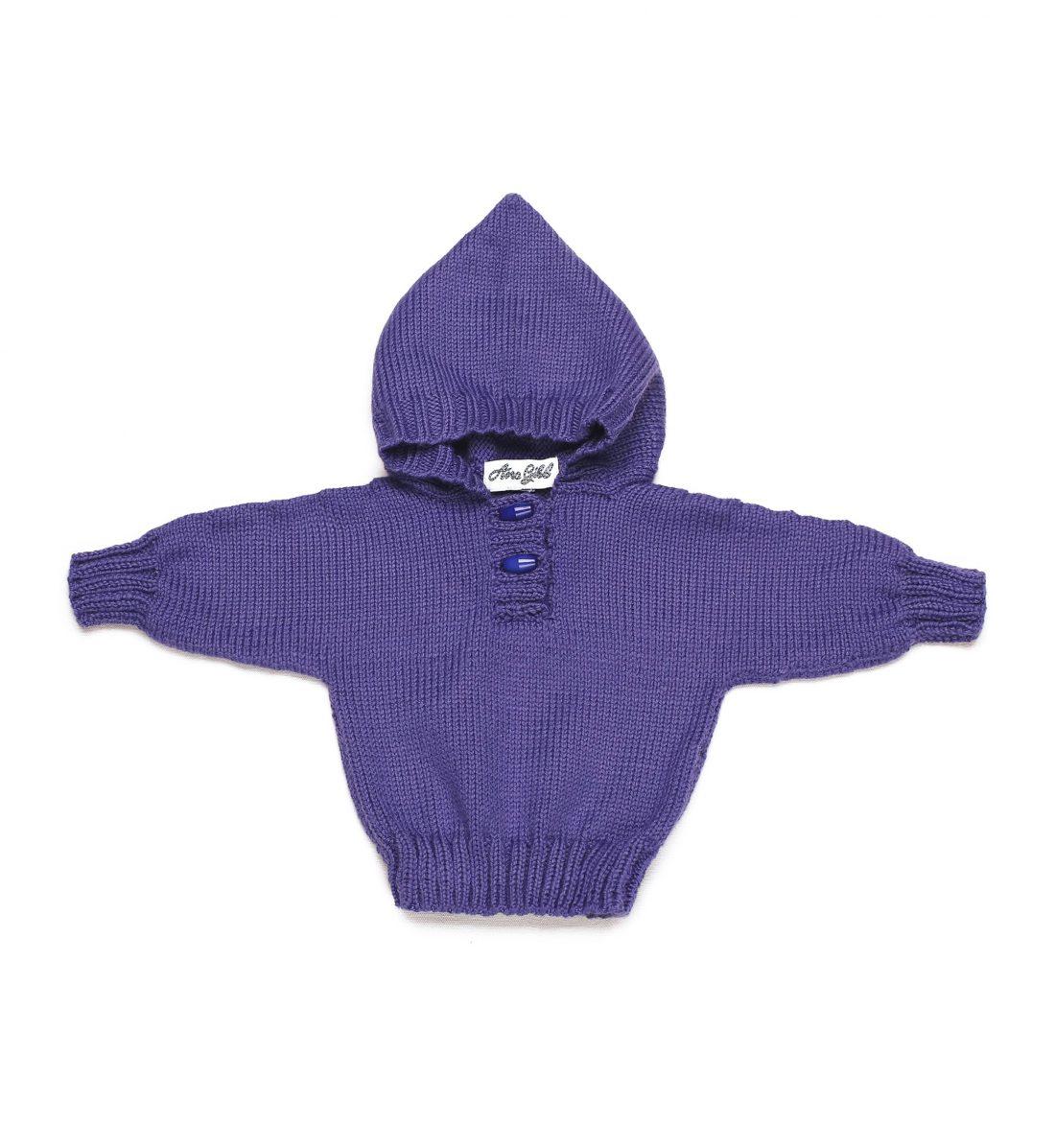 Merino Wool Hoody 1019-purple