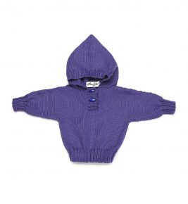 Merino Wool Hoody 1019-purple
