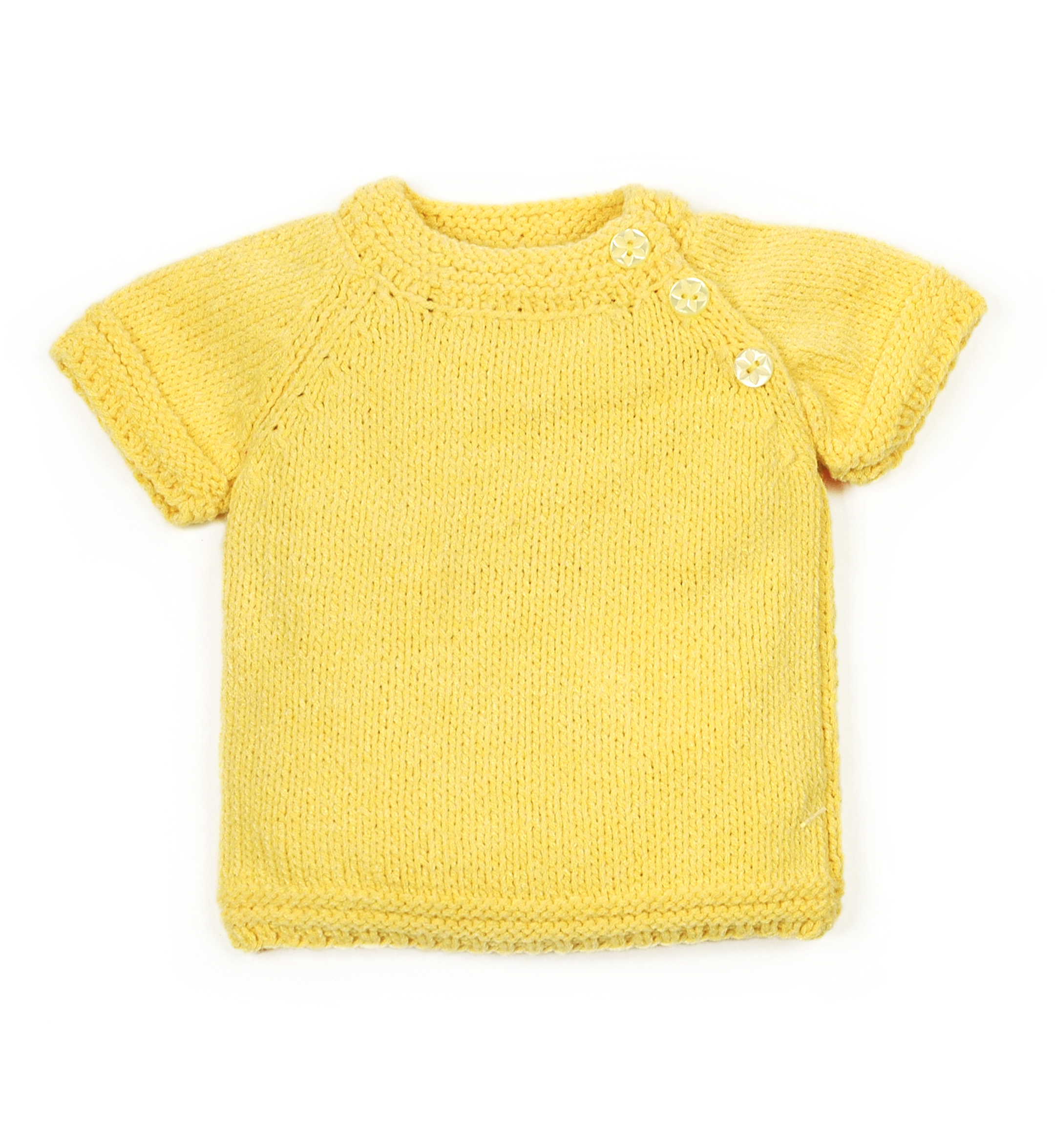 Knitted T-shirt 1020-Yellow