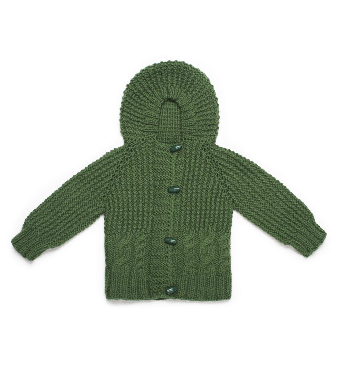 Long Sleeve Hooded Knitted Cardigan 1025