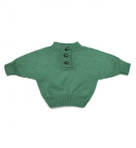 Sweater with 3 buttons 1029