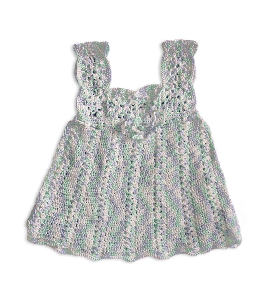 Crochet Soft Cotton Dress 1037 multicolour