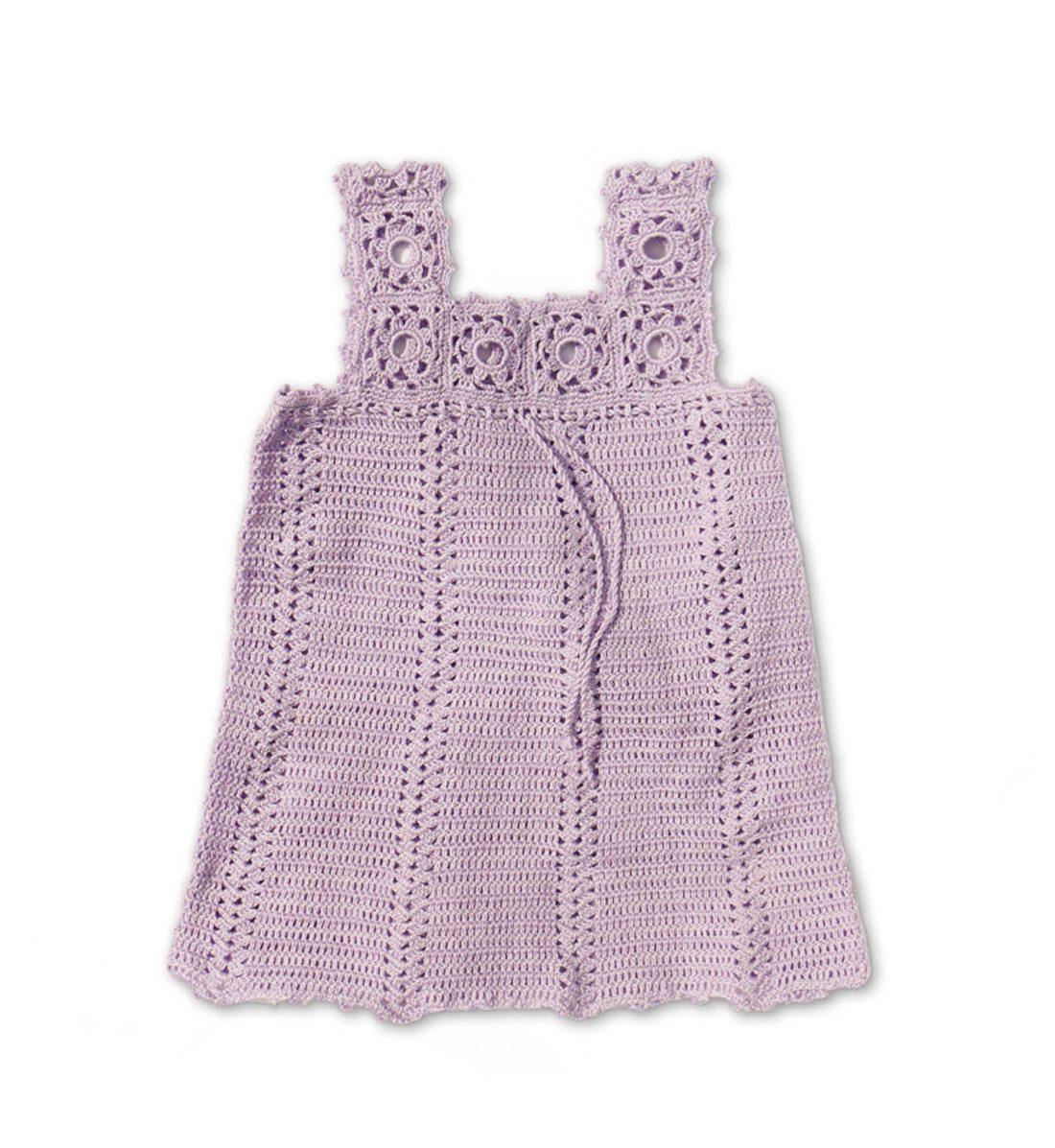 Crochet Soft Cotton Dress 1037 pink