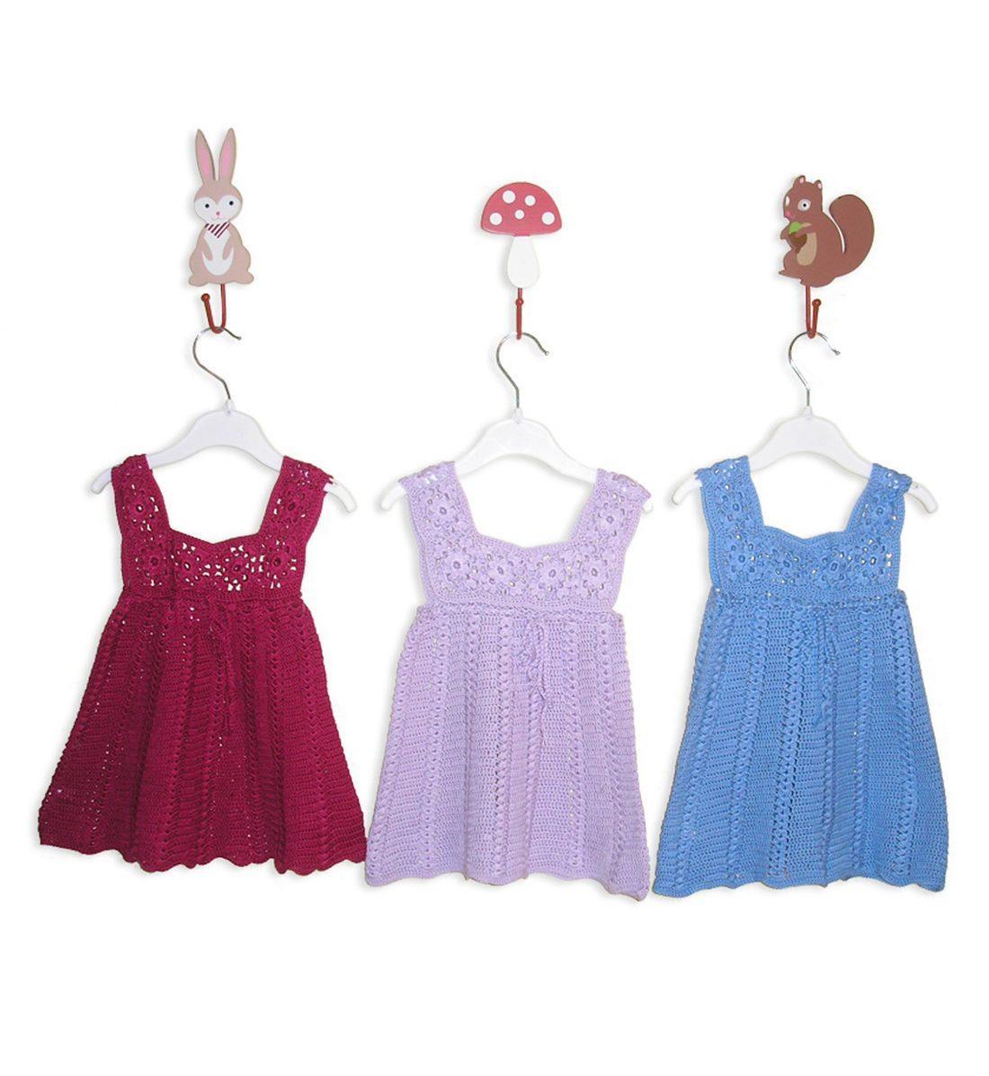 Crochet Soft Cotton Dress 1037