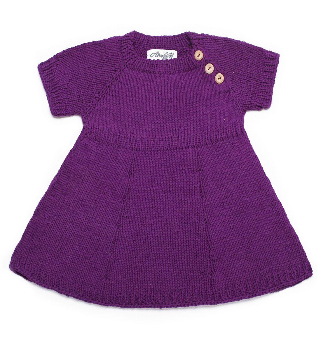 Shortsleeve Cotton Dress 1046 purple