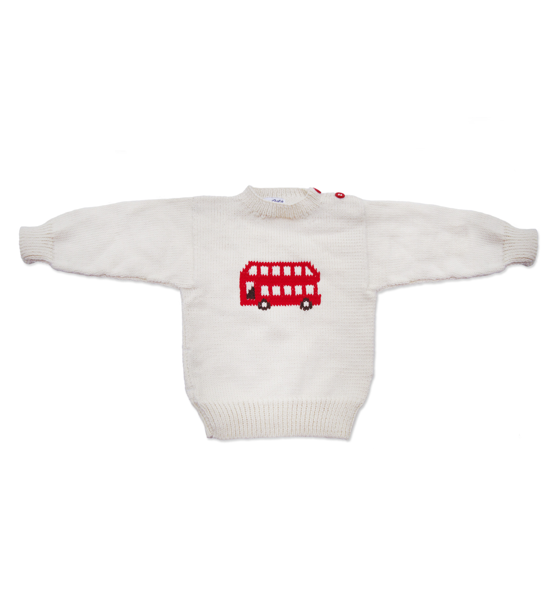 Red Bus Jumper white 1078