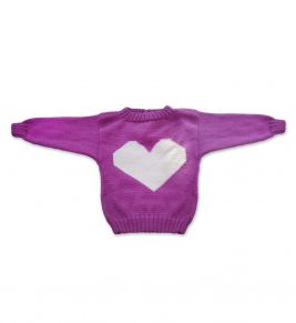 Heart Merino Wool girl sweater 1081