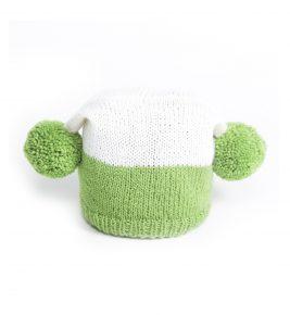 Knit Pom Pom Hat 1075