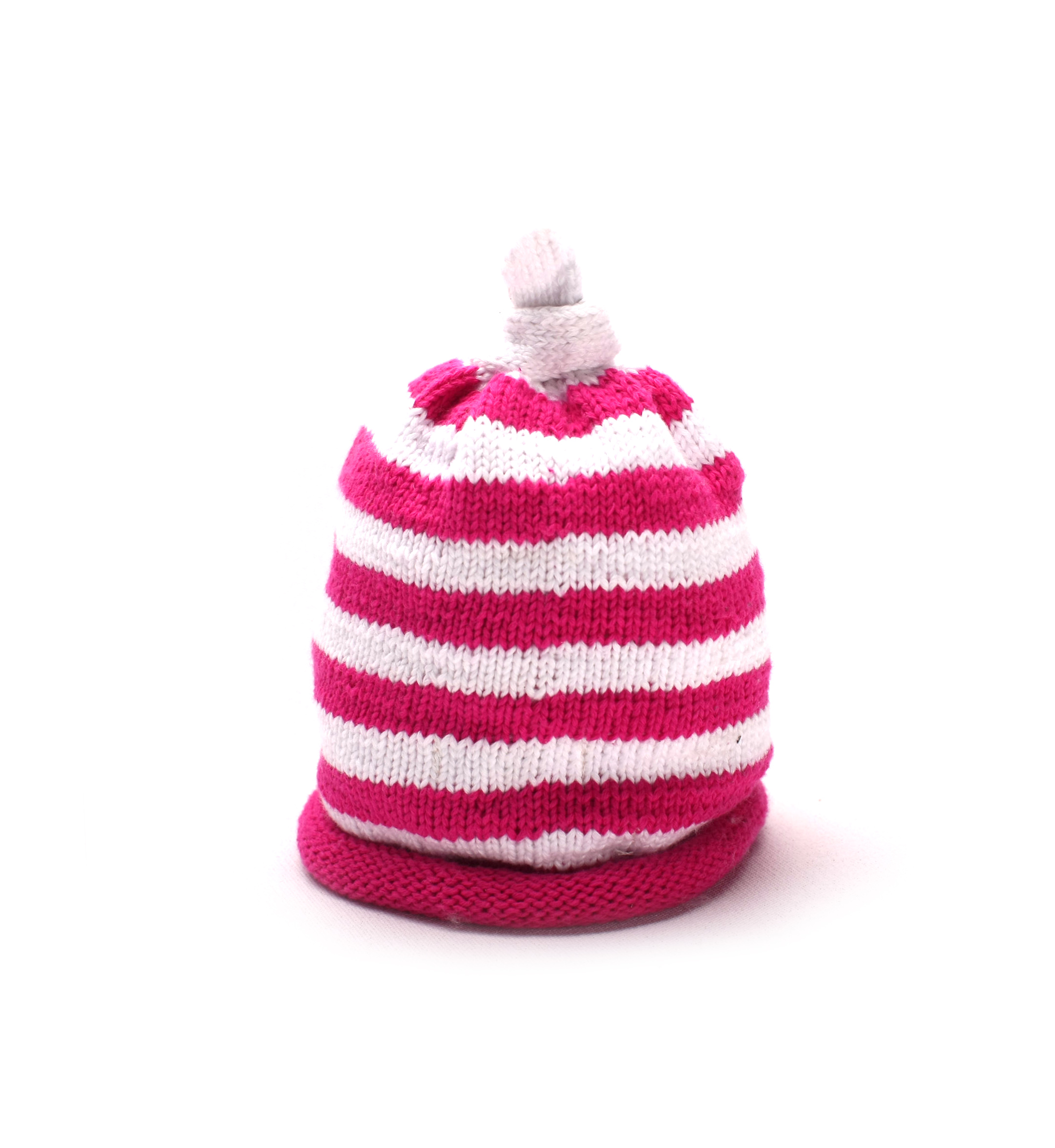 Pink Striped Baby Hat 1064