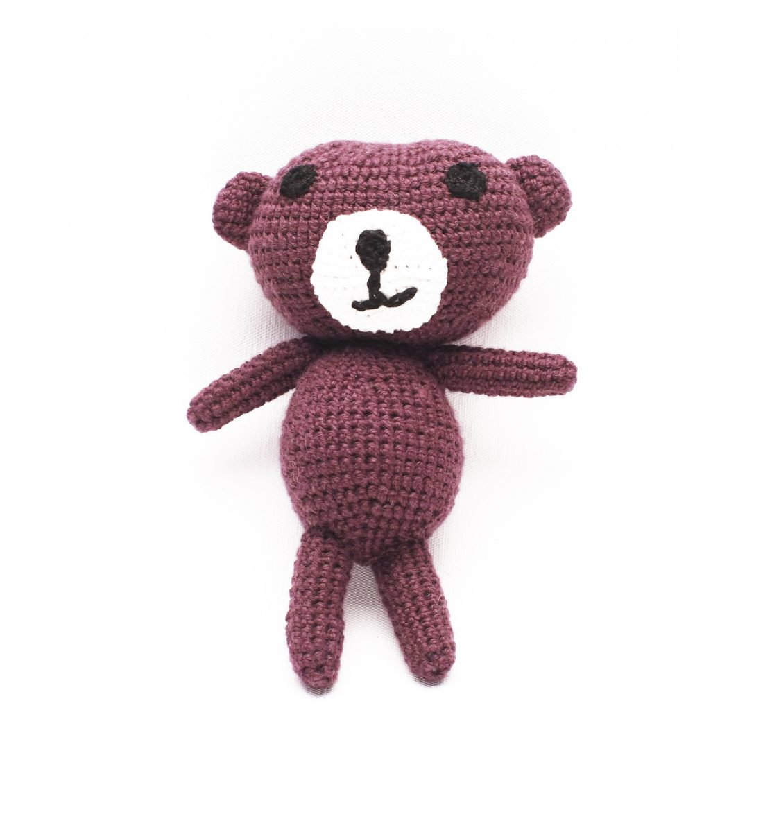 AMIGURUMI TEDDY BEAR WITH THE RATTLE 1055