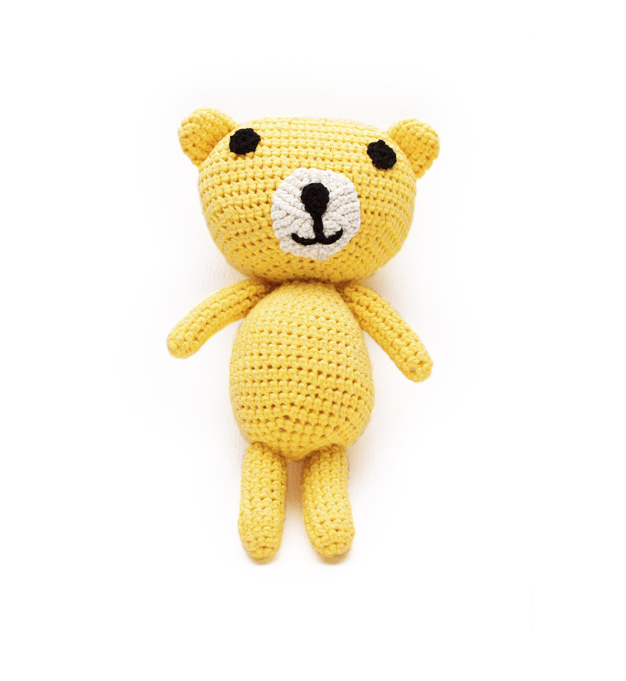AMIGURUMI TEDDY BEAR WITH THE RATTLE 1055